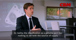 CBM: Die Problematik des Originalersatzteils in einem Expertenvideo.