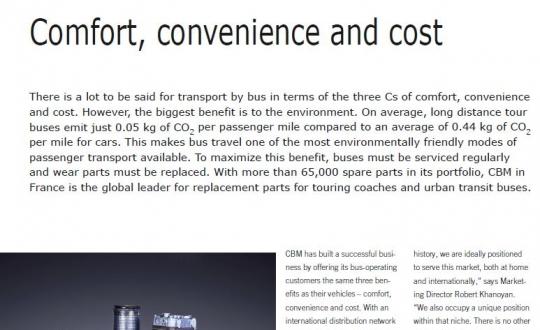 Stampa: CBM nel numero di settembre di European Business